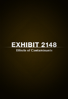 Exhibit 2148: Effects of Contaminants