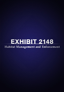 Exhibit 2148: Habitat Management and Enforcement