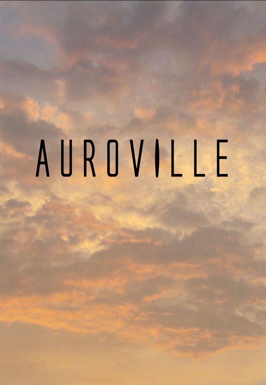 Poster of a cloudy sunset sky serves as a link to the Auroville film page