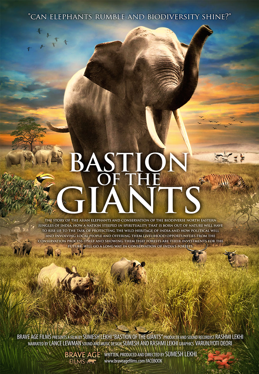Poster of an african animal scene serves as a link to the Bastion of the Giants film page