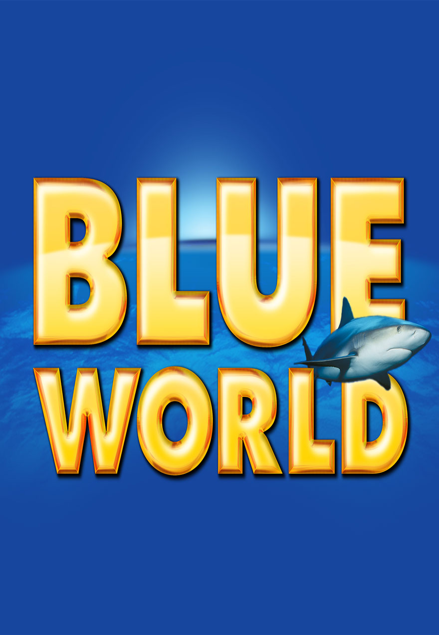 Poster all blue and yellow serves as a link to the Blue World film series page
