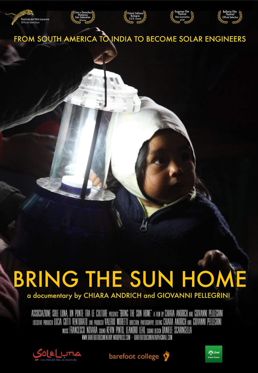 Poster of a child with a lamp serves as a link to the Bring the Sun Home film page