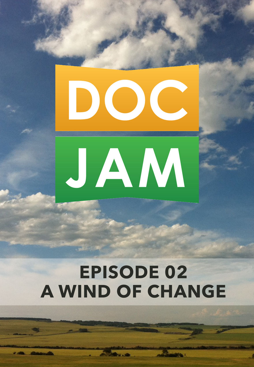 Photo of fields and sky serves as the link to Doc Jam Episode 2 film page