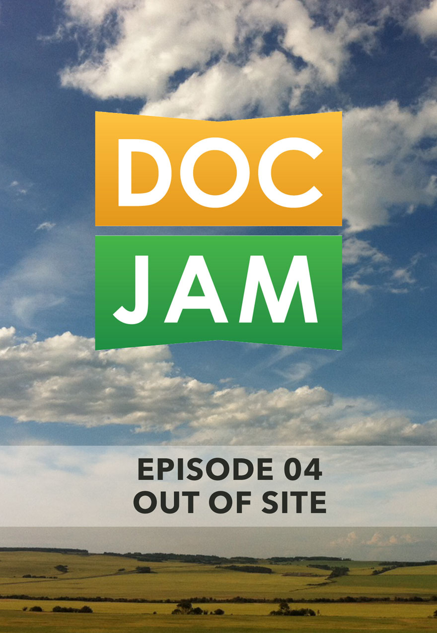Photo of fields and sky serves as the link to Doc Jam Episode 4 film page