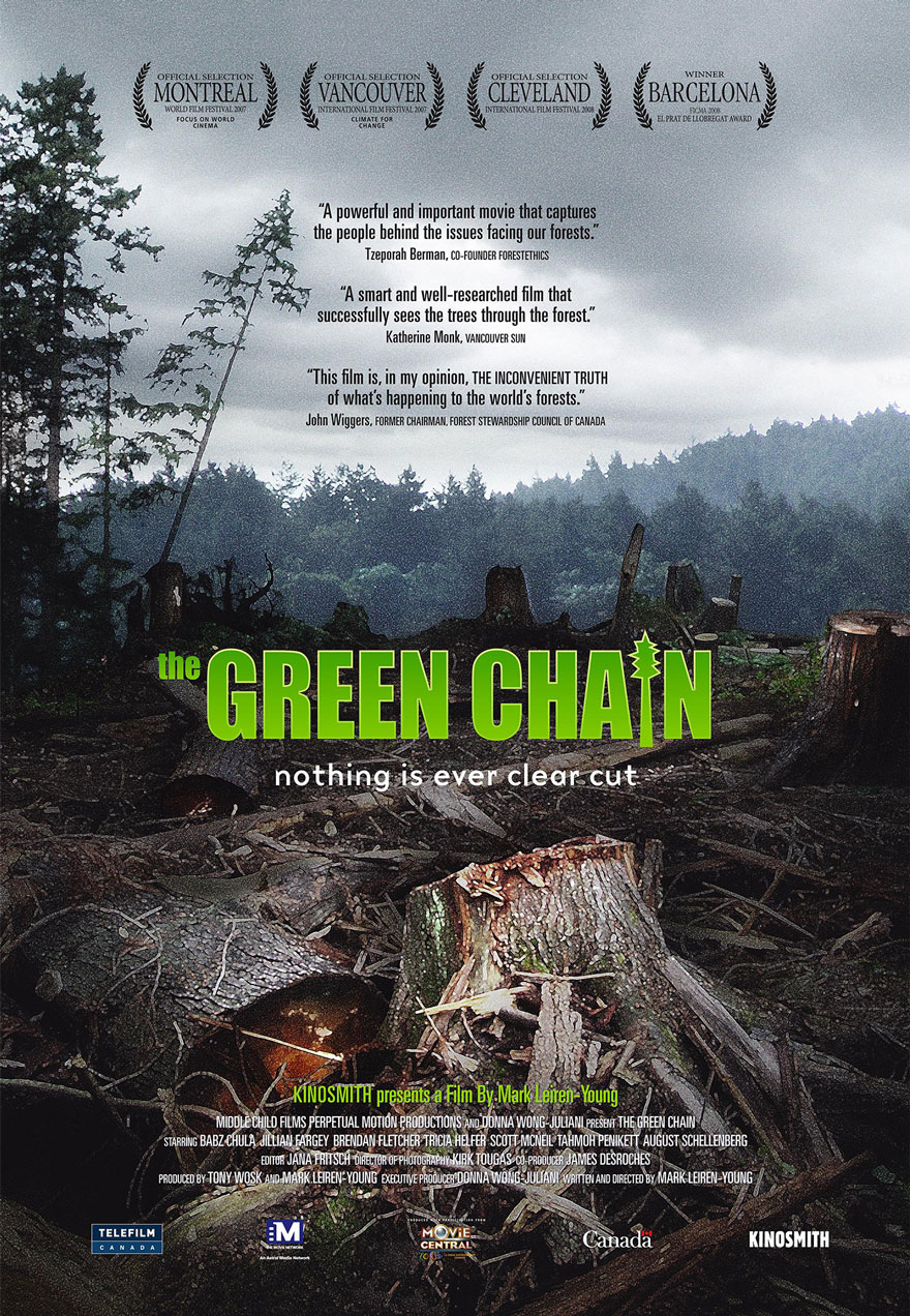 Poster of a clearcut serves as a link to The Green Chain film page