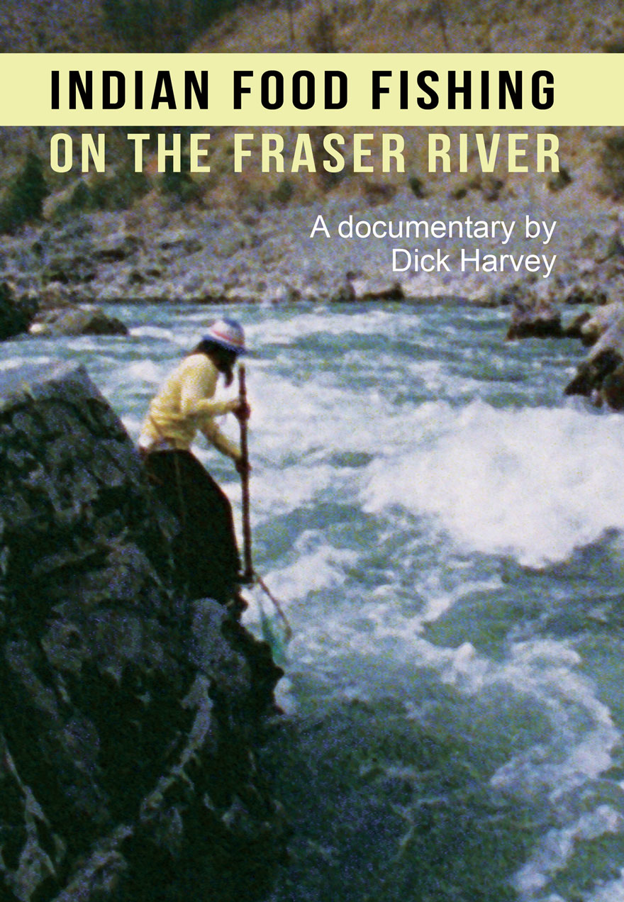 Poster of a native woman fishing for sockeye serves as a link to Indian Food Fishing on the Fraser River film page