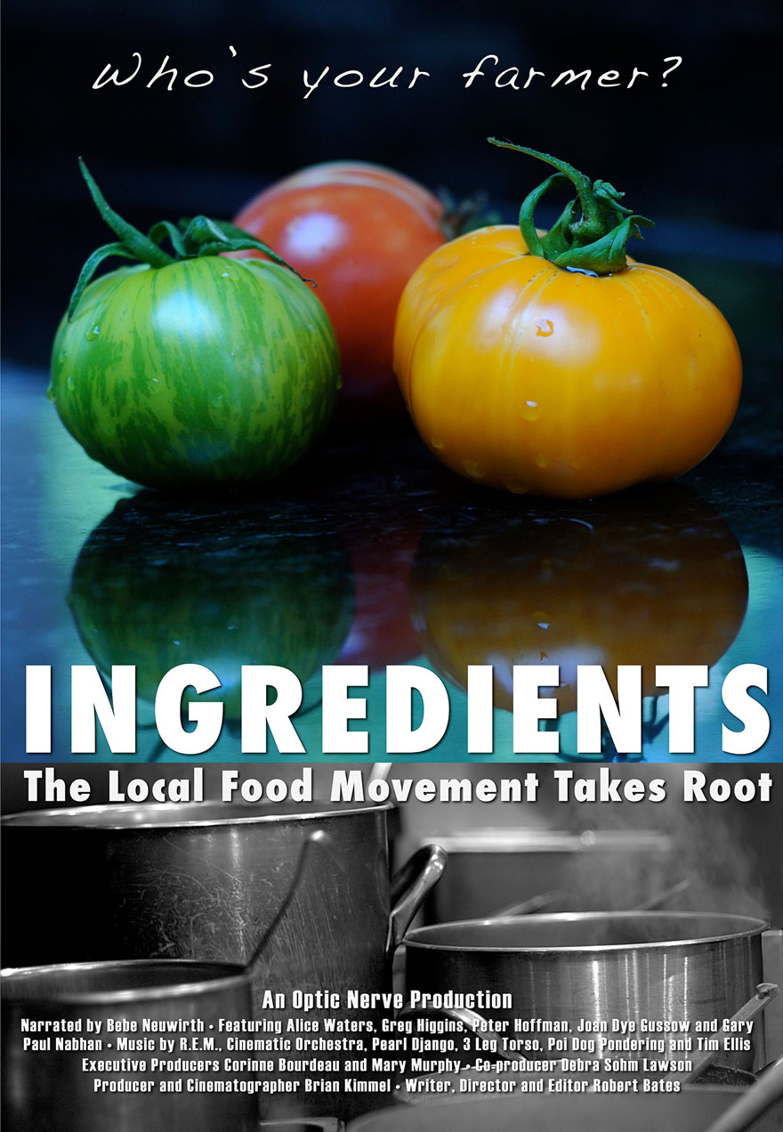 Poster of tomatoes and pots serves as a link to the Ingredients film page