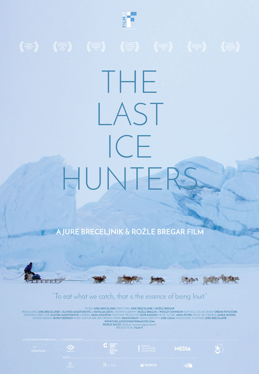 Poster of a dog sled racing across a snowy landscape serves as a link to The Last Ice Hunters film page