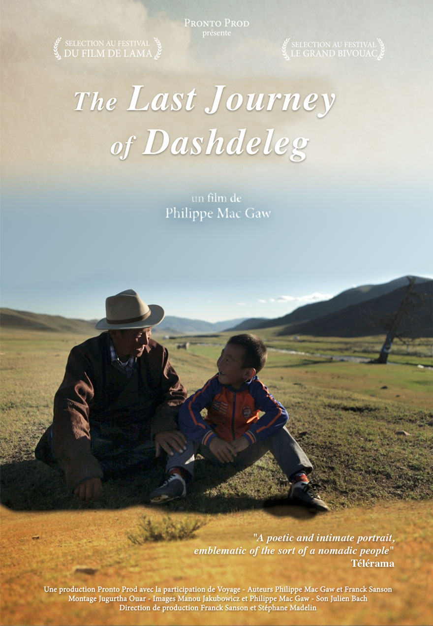 Poster of a man and boy serves as a link to The Last Journey of Dashdeleg film page