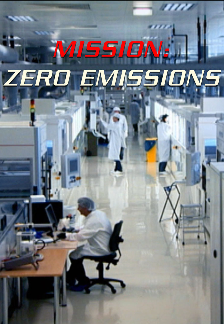 Poster of a modern power plant serves as a link to the Mission Zero Emissions film page