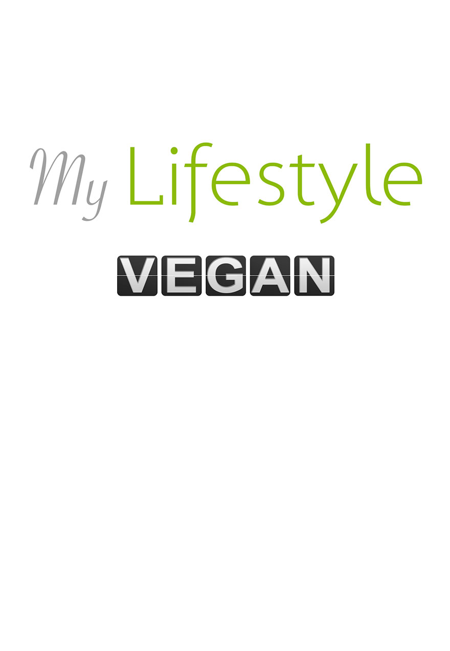 Poster with an all white background serves as a link to the My Lifestyle Vegan film page
