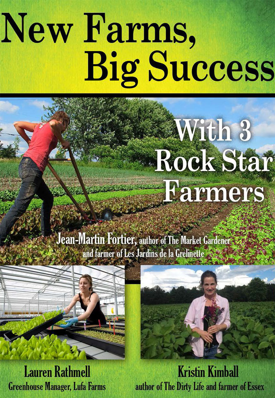Poster of small scale farming serves as a link to the New Farms, Big Success film page