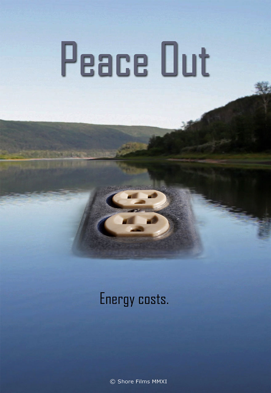 Poster of a reservoir lake serves as a link to the Peace Out film page