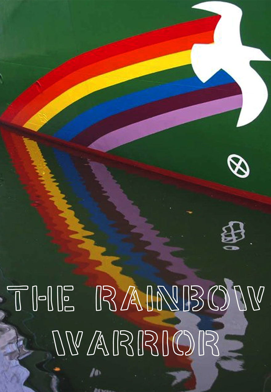 Poster of a rainbow reflected in water serves as a link to The Rainbow Warrior film page