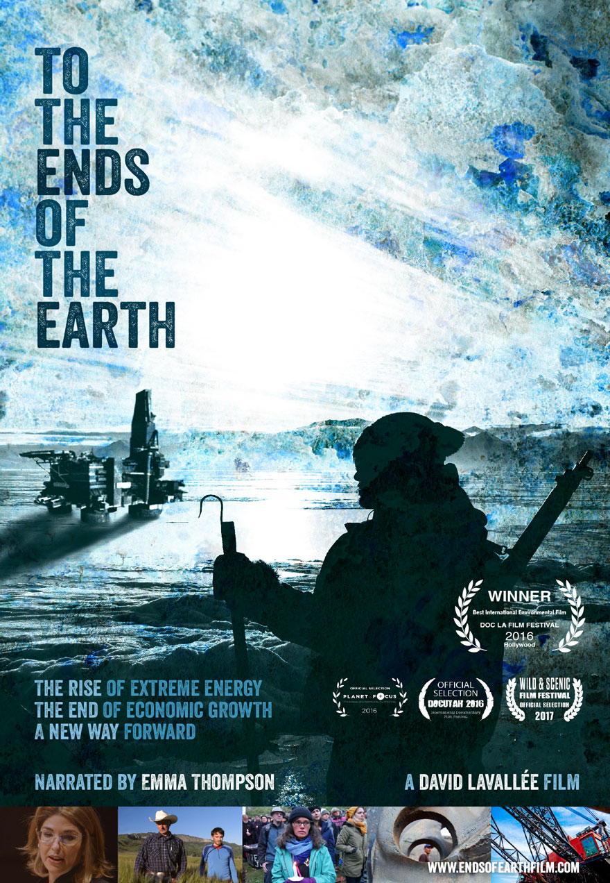 Poster of an oil rig in the arctic serves as a link To The Ends of The Earth film page