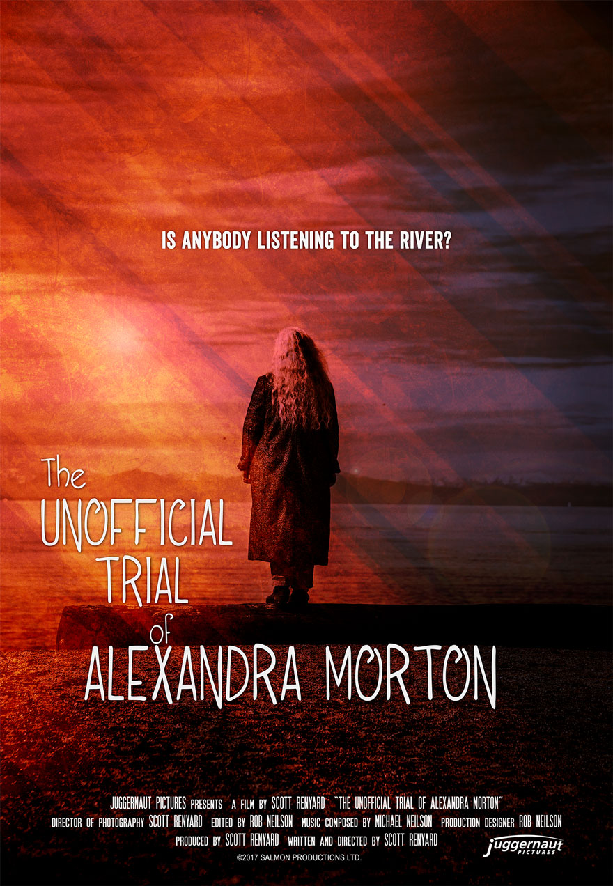 Poster of a woman overlooking water serves as a link to The Unofficial Trial of Alexandra Morton film page