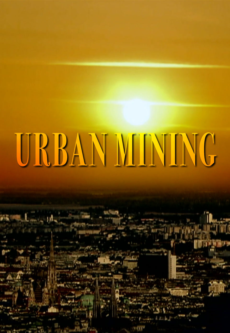 Poster of a city at sunset serves as a link to the Urban Mining film page