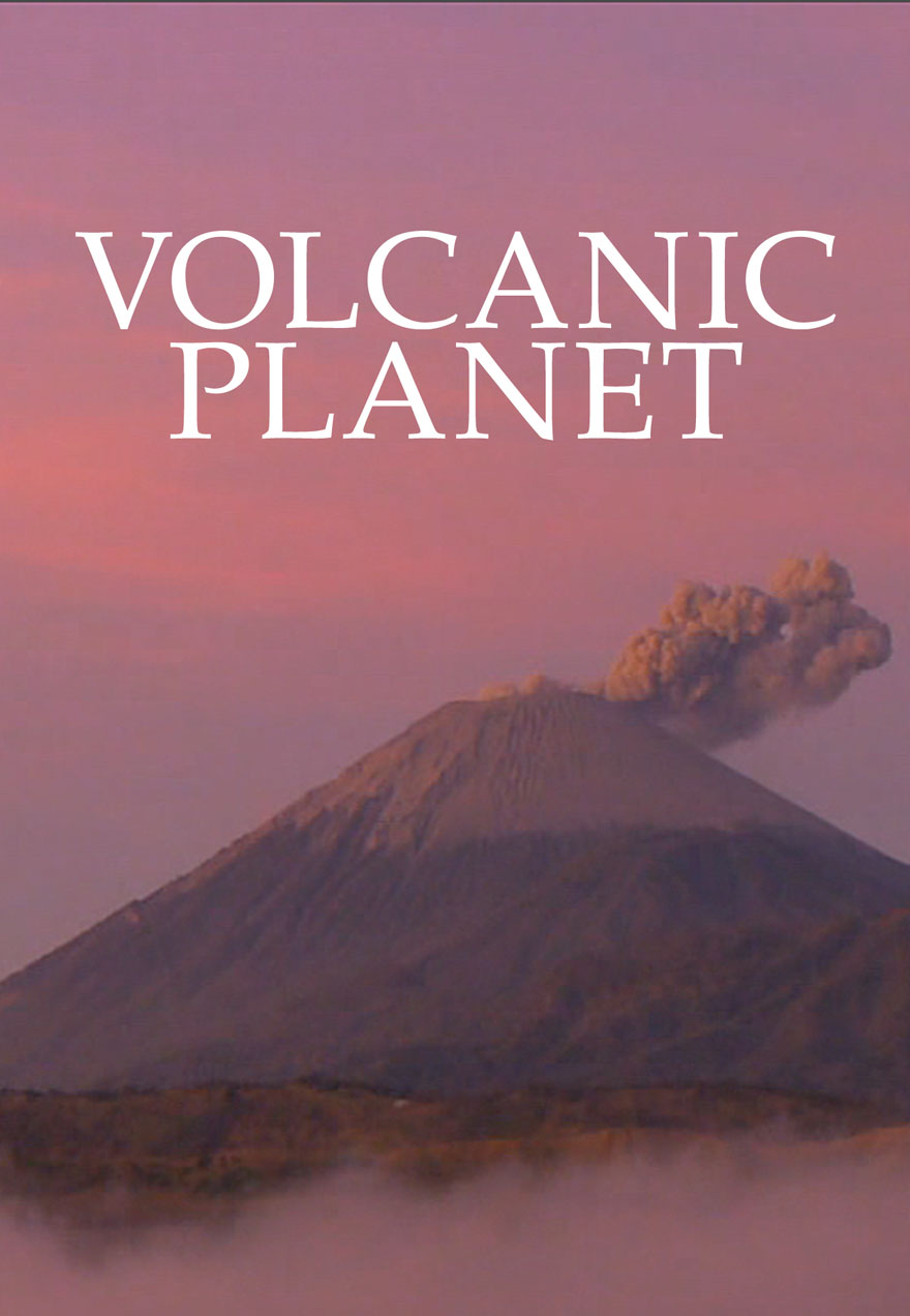 Poster of an active volcano serves as a link to the Volcanic Planet film page