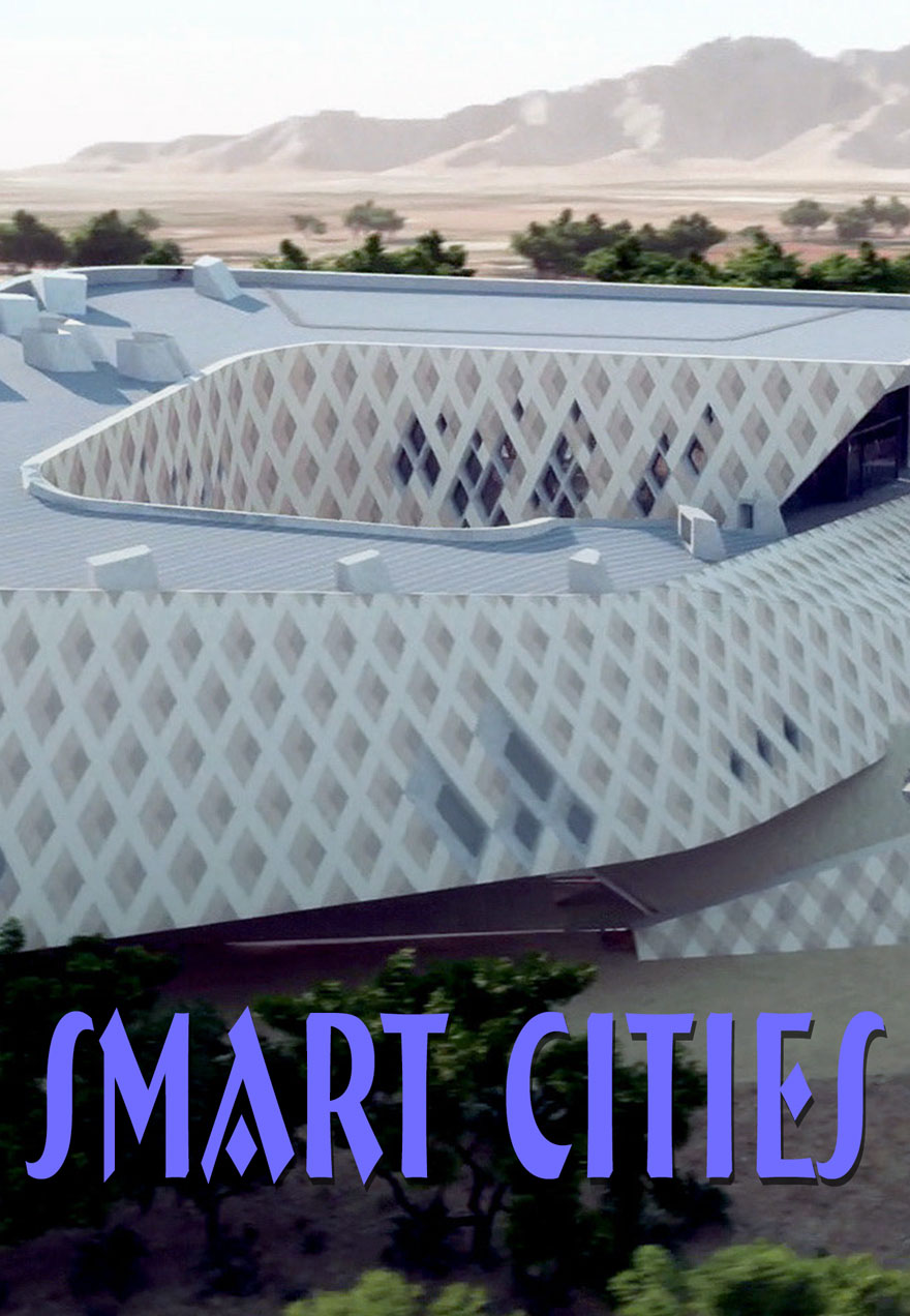 poster of a futuristic industrial design building acts as a link to Smart Cities, Building for the Cities of Tomorrow film page