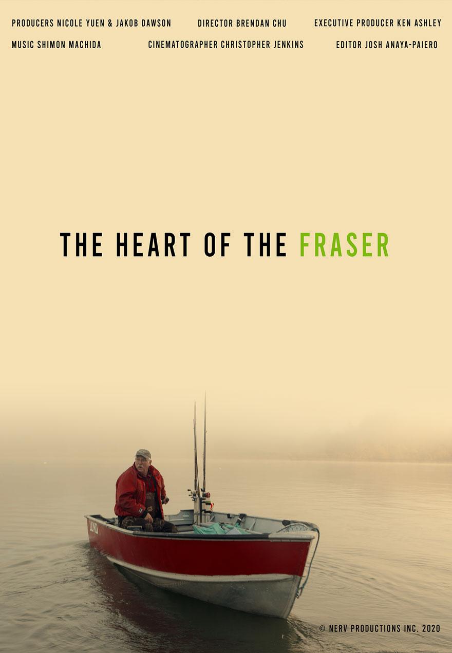 poster of a lone man in a small boat in the misty morning of the Fraser River acts as a link to The Heart Of The Fraser film page